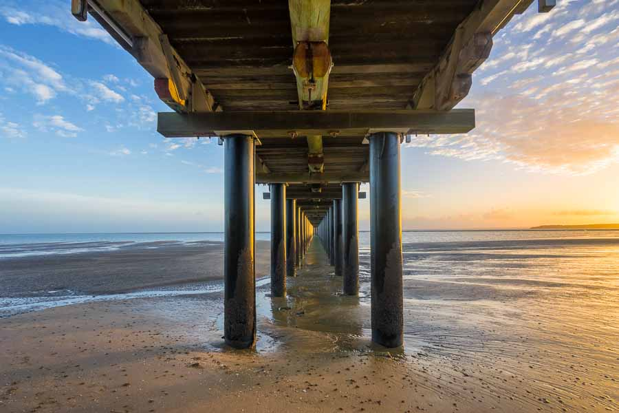 Sunrise at Urangan Pier, Hervey Bay, Fraser Coast, Queensland, Australia