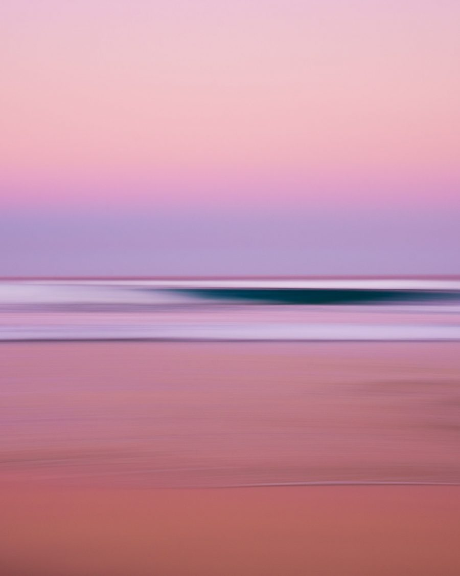Long exposure photo of a wave at Maheno Beach, Fraser Island, QLD, Australia.