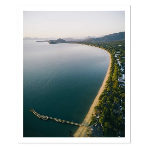 Aerial photo print of the jetty and beach at Palm Cove, Tropical North Queensland, Australia