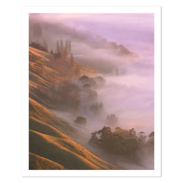 Photo print of sunrise at Te Mata Peak, Havelock North, Hawkes Bay, New Zealand.