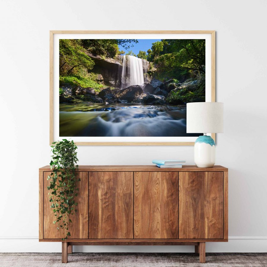 Framed photo print of Zillie Falls, Atherton Tablelands Waterfall Circuit, Tropical North Queensland, QLD, Australia